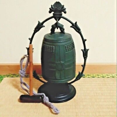 Japanese Vintage Bronze Buddhist Bell KANE Kinjudo Japan wooden Striker EMS