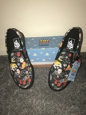 Vans X Toy Story Sid Mutants Black Pattern Slip On Trainers Uk Size