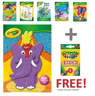Crayola Colouring Book Butterfly, Lion, Bird, Frog Kids Colouring Book, Crayons
