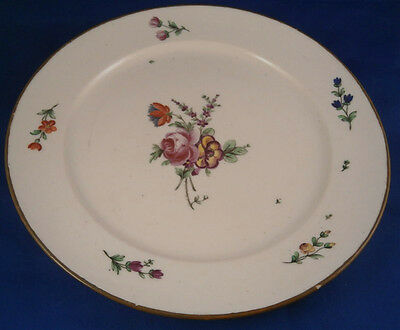Rare 18thC French Lille Porcelain Plate Teller Porcelaine Assiette France 1785
