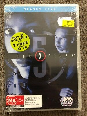 The X-Files : Complete Season 5 (DVD, 2007, 5-Disc Set) NEVER PLAYED & SEALED