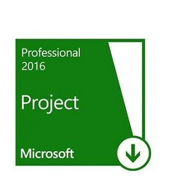 Microsoft Project 2016 Professional Genuine Retail Key