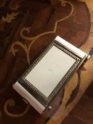 antique White And Gold Metal Cigarette case