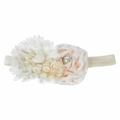 born Kids Baby Girls Princess Headbands Headwear Pearl Flower Hair Band Bei O9F3