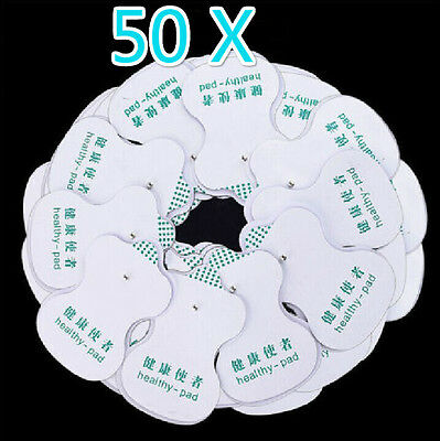 10~50 PCS Electrode Pads For Tens Acupuncture Digital Therapy Massager *-
