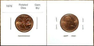 Canada 1979 Small Cent *Rotated Dies* UNC Gem BU Red!!