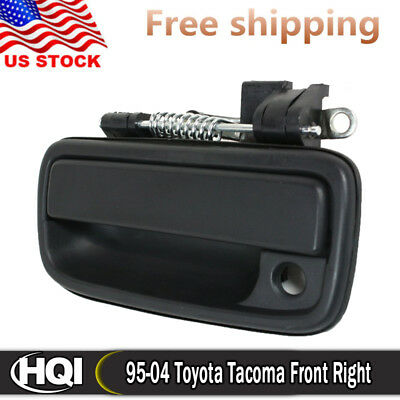 Outside Exterior Door Handle Black Front Left Driver for 1995-2004 Toyota Tacoma
