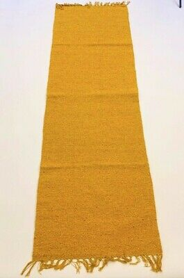 ECO Friendly YELLOW Plain Natural Cotton Washable Reversible Runner Rug 70x200cm