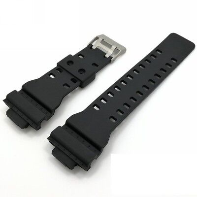 16mm Black Rubber Watch Strap Band Compatible for Casio GA-300 G-8900 GR-8900A