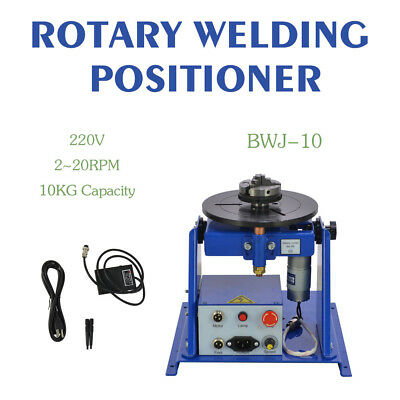 "Rotary Welding Positioner Turntable Table Mini 2.5"" 3 Jaw Lathe Chuck 2-20 r/min"