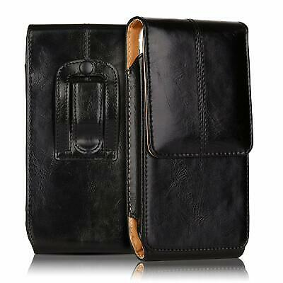 Vertical Leather Case Cover Pouch Holster With Belt Loop For iPhone X/6/7/8 Plus