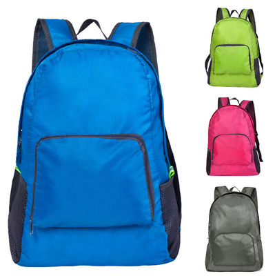 Foldable Men Boys Girls Plain Backpack Rucksack School College Travel waterproof