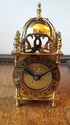 Vintage Smiths Nell Gwynne Brass Lantern Clock - Original Quartz Movement - Gwo