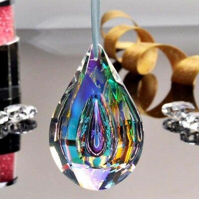 76mm Colorful Glass Crystals Lamp Prisms Parts Hanging Drops Chandelier Pendants