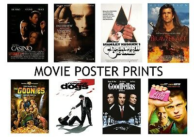 Classic Movie Film Posters A3 or A4 High Quality Prints