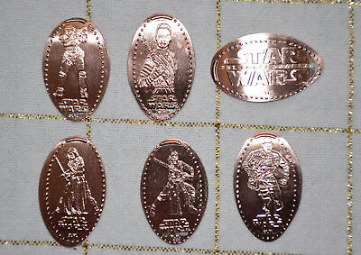 Disney World Pressed Smashed Elongated Penny Star Wars Force Awakens 6 pc P86