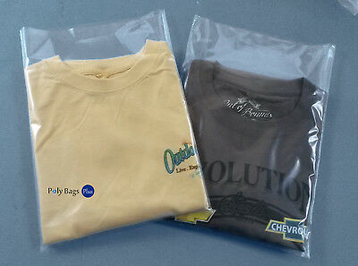 200 9x12 Clear Poly 1-Mil LDPE Plastic Baggies Open Top Clothing T-Shirt Bags