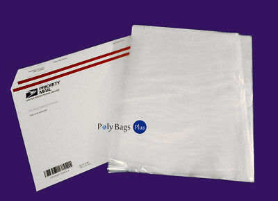 100 12x12 Clear Poly Plastic Bags FREE PRIORITY 1Mil LDPE Open Top FDA Baggie