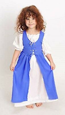 Renaissance Child 's Princess Party OVERDRESS ONLY Size:Princess Color: F. Blue