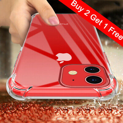 For iPhone 7 8Plus XS MAX XR Case Clear Hard Bumper Shockproof Protective Cover