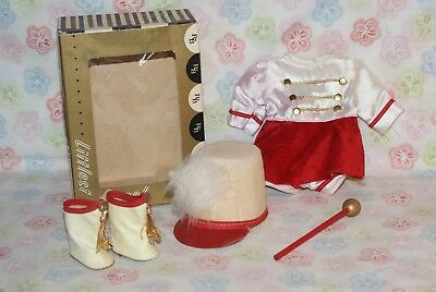 Vintage Littlest Angel Complete Drum Majorette With Baton Outfit #072 In Box