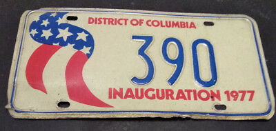 1977 District Of Columbia 390 Inaugural Inauguration License Plate