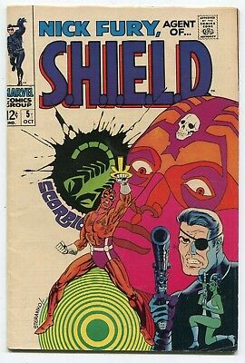 NICK FURY, AGENT OF SHIELD #5 Jim Steranko - SEE MORE Silver Age MARVEL