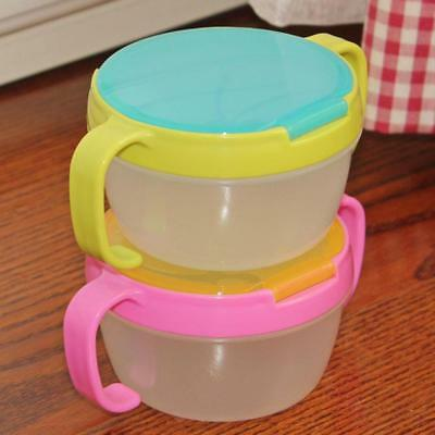 Baby Infants Snack Box Food supplement Cup Double Spilled Snack Cup_Cover