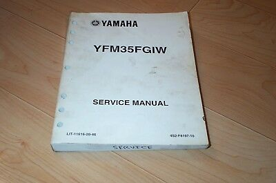 factory service repair manual supplement yfm yamaha grizzly 400 oem rh picclick com 2007 yamaha grizzly 350 4x4 repair manual Yamaha Grizzly 350 4x4