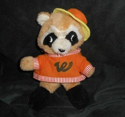 12 Vintage Wal Mart Stores Tan Brown White Raccoon Stuffed Animal