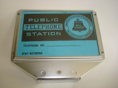 3 slot  Payphone Telephone Top Flag sign Western Electric Automatic Electric