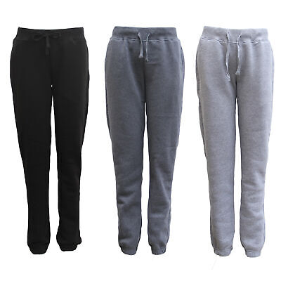 Women's Ladies Soft Fleece Lined Track Suit Pants Casual Sports Gym Slim Cuffed