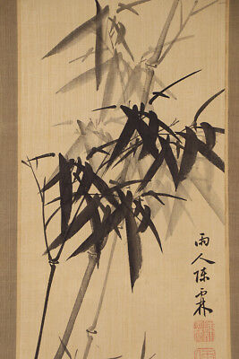 chinese hanging scroll art painting bamboo asian antique e3183