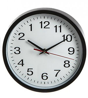 Novelty Backwards Wall Clock -Reverse Anti Clockwise- 25Cm Size -1St Class Post