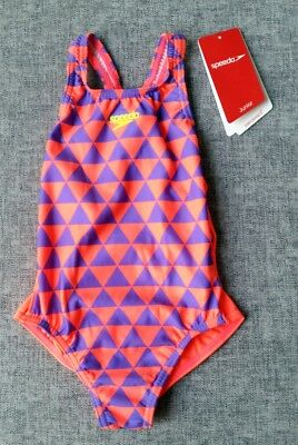 SPEEDO Tgirl Endurance+ Bunting Medalist 1PC Swimsuit Size 4 Brand NEW with tag