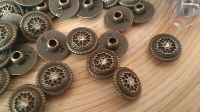 10 x  Round Decorative rivets  easy set-up Leather craft #3 /K28