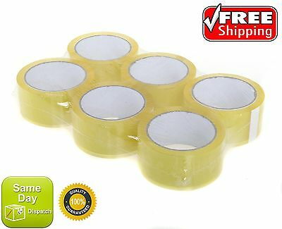 CLEAR SELLOTAPE SELLO PARCEL STRONG TAPE MULTILISTING 12 6 24 36 48mm 50m BOX 2""