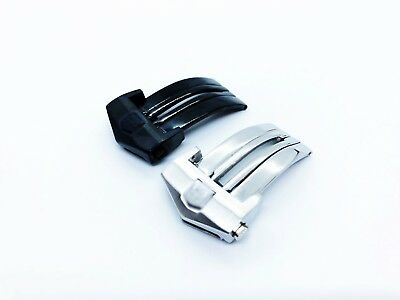 Silver or Black Stainless Steel Deployment Clasp 18 20 22mm fit Tag Heuer Watch