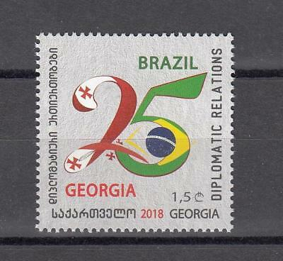 Georgia Georgien MNH** 2018 Mi. 709 25 Year Dipl relation with Brasilia