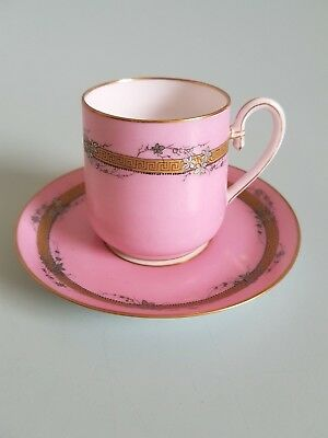 French porcelain 19th century coffee / chocolate Cup and Saucer C1860