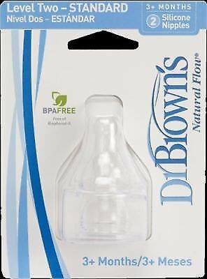 Dr. Brown's Natural Flow Level 2 Standard Nipple - 6 Count
