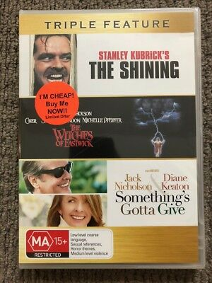 Something's Gotta Give / Shining / Witches Of Eastwick (DVD) Reg 4- NEW & SEALED