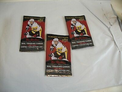 Tim Horton's  NHL Hockey Cards  Upper Deck lot of 3 sealed packages