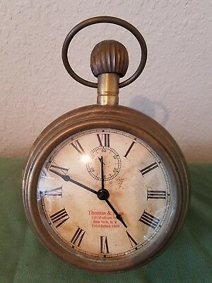 a07811f3c337 Large Pocket Watch Style Desk Clock Two s Company Timeless Treasure Chimes