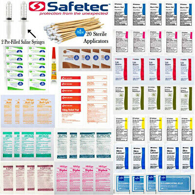 121pcs First Aid Trauma Kit Refill Pack - Suture Ointment OTC Survival Camping