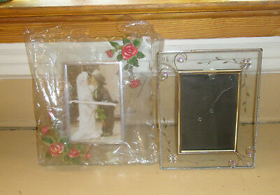 Two Picture Frames For Lovers, Glass Holds 4 X 6 Photos