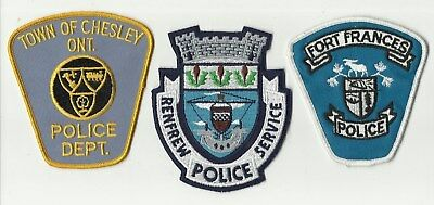 Chesley / Renfrew / Fort Frances (ONTARIO) Police Patches