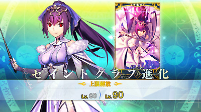 [JP] Fate Grand Order FGO Single SSR Scathach-Skadi+100-200 SQ starter account