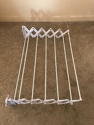 Wall Mount Hanger Accordion Clothes Drying Rack Hanging Laundry Room