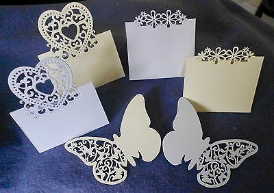 Selection of 3 Different Celebration Place Cards in Ivory or White